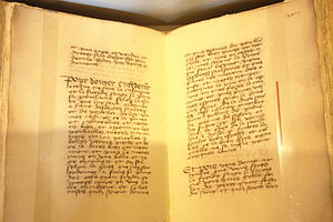 English: Middle Ages cookbook at Château de Ch...