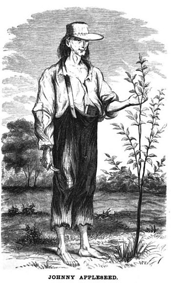 English: Drawing of Jonathan Chapman, aka John...
